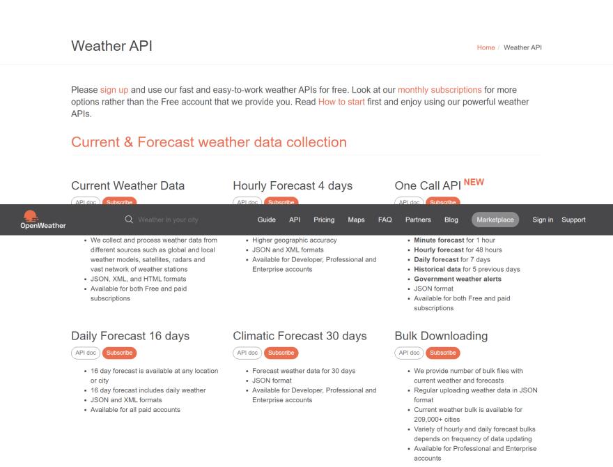 Open Weather API